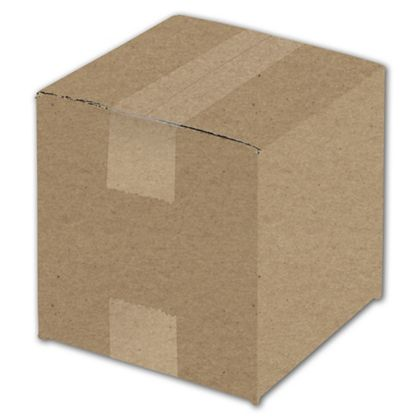 Kraft Corrugated Boxes, 6 x 6 x 6""