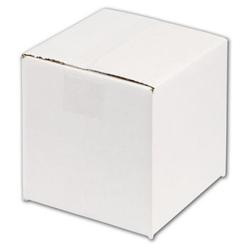White Corrugated Boxes, 6 x 6 x 6
