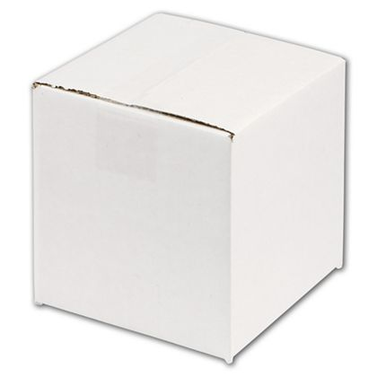 White Corrugated Boxes, 6 x 6 x 6""