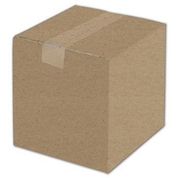 "Kraft Corrugated Boxes, 8 x 8 x 8"""