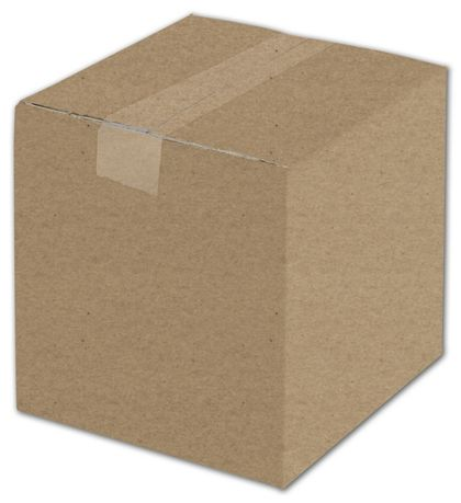 Kraft Corrugated Boxes, 8 x 8 x 8""