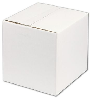White Corrugated Boxes, 8 x 8 x 8