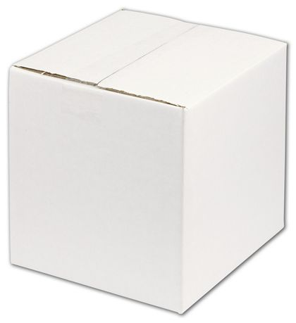 "White Corrugated Boxes, 8 x 8 x 8"""