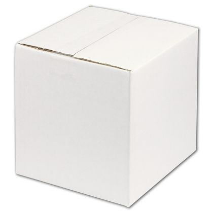 White Corrugated Boxes, 8 x 8 x 8""