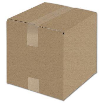 "Kraft Corrugated Boxes, 10 x 10 x 10"""