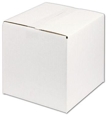 White Corrugated Boxes, 10 x 10 x 10