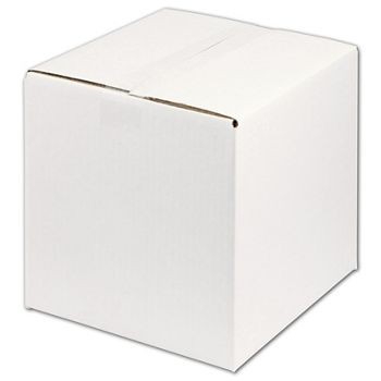 White Corrugated Boxes, 10 x 10 x 10