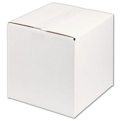 "White Corrugated Boxes, 10 x 10 x 10"""