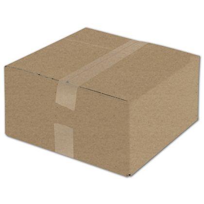 "Kraft Corrugated Boxes, 12 x 12 x 6"""