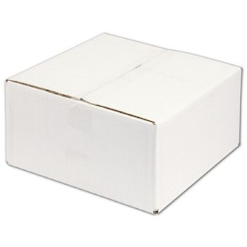 White Corrugated Boxes, 12 x 12 x 6
