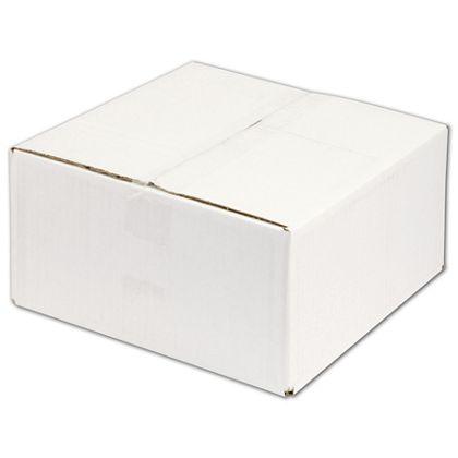 "White Corrugated Boxes, 12 x 12 x 6"""