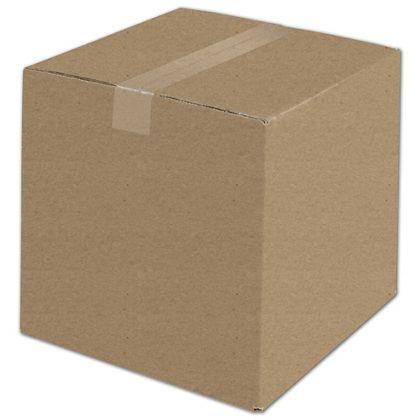 "Kraft Corrugated Boxes, 12 x 12 x 12"""