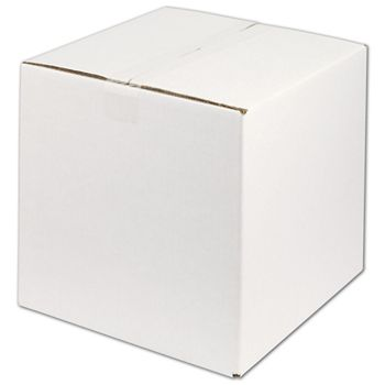 White Corrugated Boxes, 12 x 12 x 12