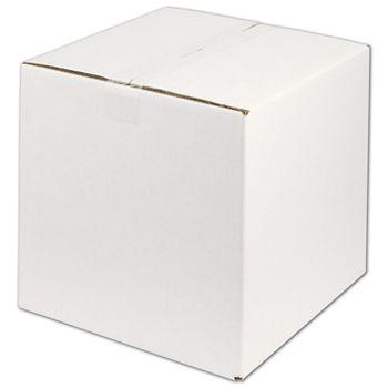 "White Corrugated Boxes, 12 x 12 x 12"""