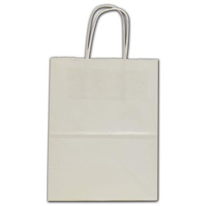 "White Crystal Cote Shoppers, 8 x 4 1/2 x 10 1/4"""