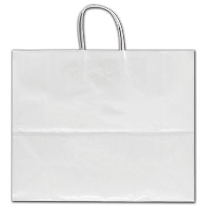 "White Crystal Cote Shoppers, 16 x 6 x 12"""