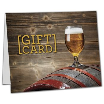Beer Gift Card Carriers, 6 1/2 x 4