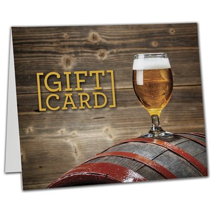"Beer Gift Card Carriers, 6 1/2 x 4"" Flat"