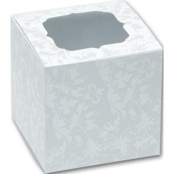 Pearl Flourish Cupcake Boxes, 3 x 3 x 3