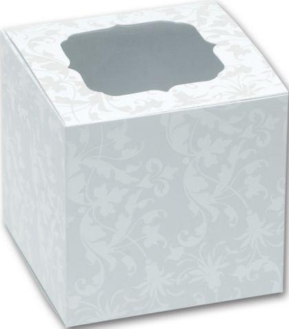 """Pearl Flourish Cupcake Boxes, 3 x 3 x 3"""""""