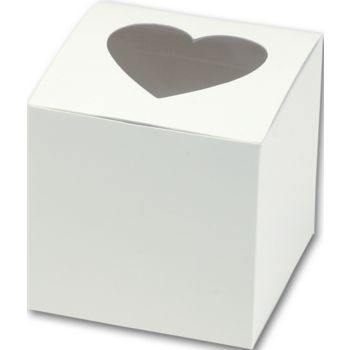 Heart Window Cupcake Boxes, 3 x 3 x 3