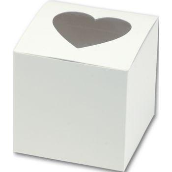Heart Window Cupcake Boxes, 3 x 3 x 3