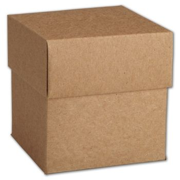 Kraft Two-Piece Cupcake Boxes, 4 x 4 x 4