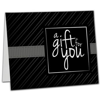 Black Stripe Gift Card Carriers, 6 1/2 x 4