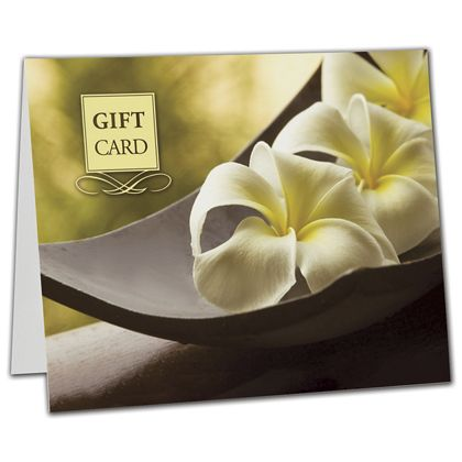 "Flower Gift Card Carriers, 6 1/2 x 4"" Flat"