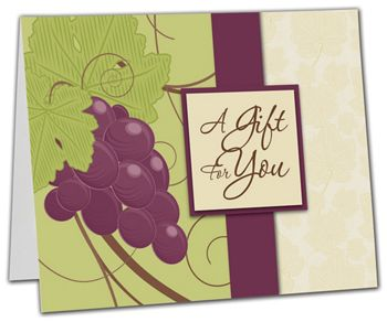 Grape Vine Gift Card Carriers, 6 1/2 x 4