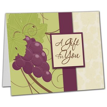 "Grape Vine Gift Card Carriers, 6 1/2 x 4"" Flat"