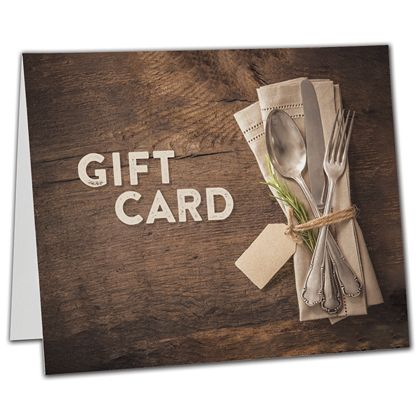 "Napkin Gift Card Carriers, 6 1/2 x 4"" Flat"
