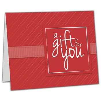 Red Stripe Gift Card Carriers, 6 1/2 x 4