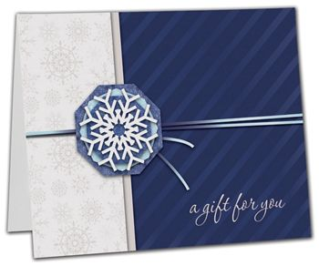 Snowflake Gift Card Carriers, 6 1/2 x 4