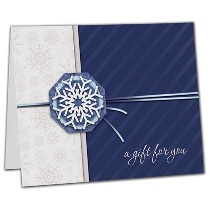 "Snowflake Gift Card Carriers, 6 1/2 x 4"" Flat"