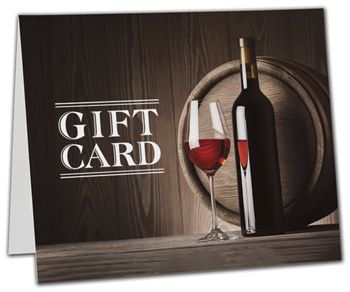Wine Gift Card Carriers, 6 1/2 x 4