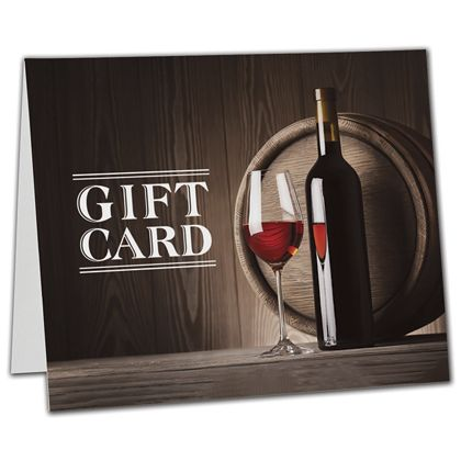 "Wine Gift Card Carriers, 6 1/2 x 4"" Flat"