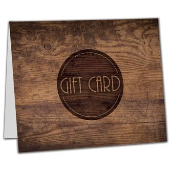 "Wood Gift Card Carriers, 6 1/2 x 4"" Flat"