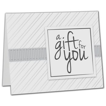 White Stripe Gift Card Carriers, 6 1/2 x 4