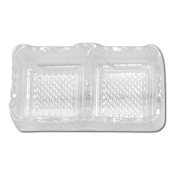 Clear 2-Truffle Trays, 3 x 1 3/4 x 1