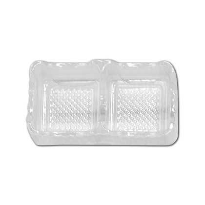 Clear 2-Truffle Trays, 3 x 1 3/4 x 1""