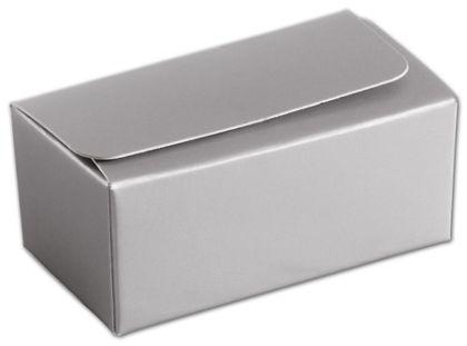 """Silver 2-Truffle Confectionery Box, 3 1/16x1 11/16x1 5/16"""""""