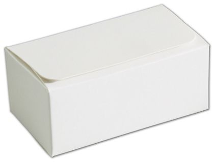White 2-Truffle Confectionery Boxes, 3 1/16x1 11/16x1 5/16