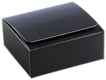 Black 4-Truffle Confectionery Boxes, 3 3/8x3 1/16x1 5/16
