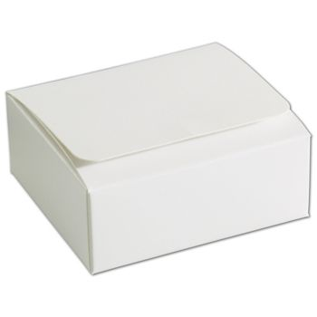 White 4-Truffle Confectionery Boxes, 3 3/8x3 1/16x1 5/16