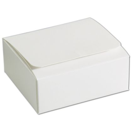 White 4-Truffle Confectionery Boxes, 3 3/8x3 1/16x1 5/16""