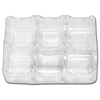 Clear 6-Truffle Trays, 4 1/2 x 3 x 1