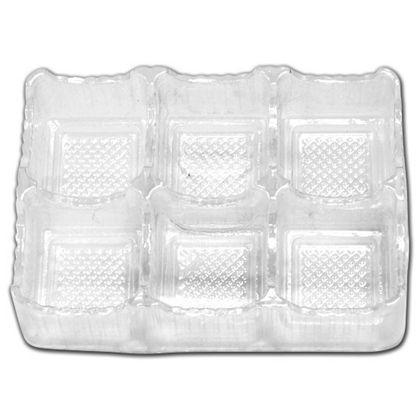 """Clear 6-Truffle Trays, 4 1/2 x 3 x 1"""""""