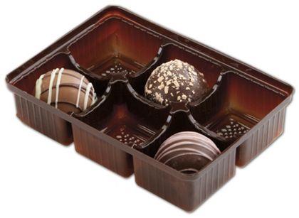 Brown 6-Truffle Trays