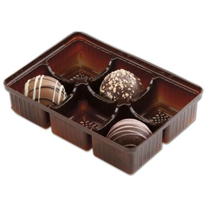 Brown 6-Truffle Trays